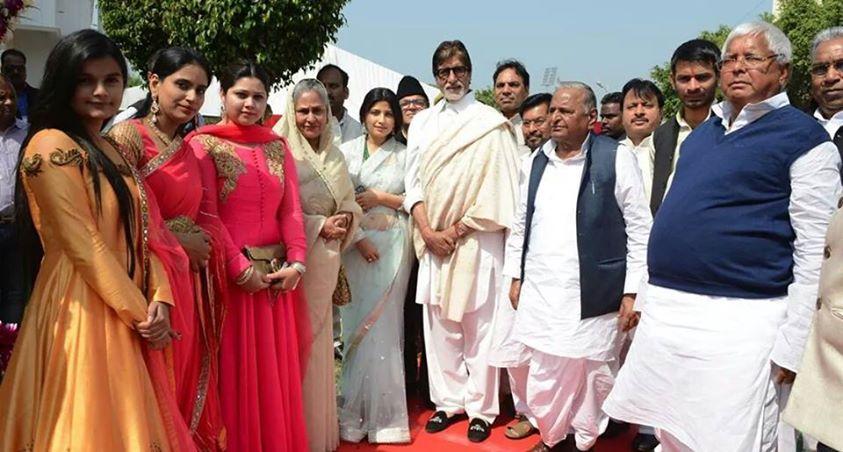 उत्तर प्रदेश के मुख्यमंत्री श्री अखिलेश यादव, सांसद श्री तेज प्रताप सिंह यादव के तिलकोत्सव समारोह के मौके पर।
