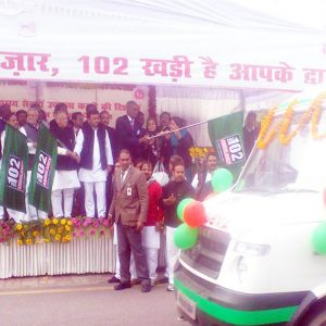 Chief Minister Akhilesh Yadav launched the Health Department's 102 National Ambulance Service for pregnant women