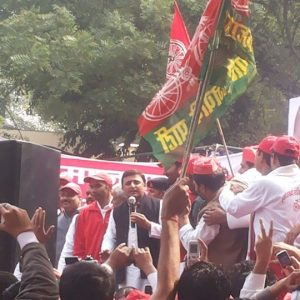 Akhilesh Yadav flags off SP cycle rally from New Delhi
