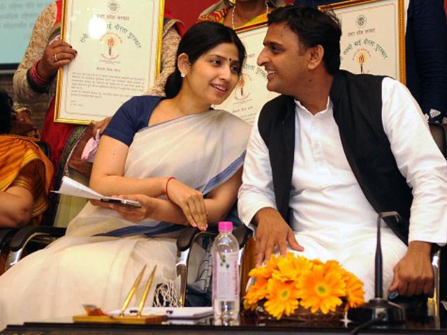उत्तर प्रदेश के पूर्व मुख्यमंत्री अखिलेश यादव और उनकी सांसद पत्नी डिंपल यादव