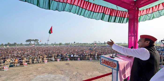 Chief Minister Akhilesh Yadav's election rallies today at Sitapur and Lakhimpur Kheri