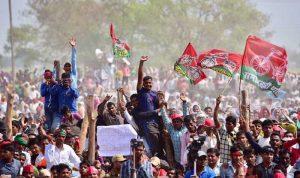जौनपुर में मुख्यमंत्री अखिलेश यादव की चुनावी रैली