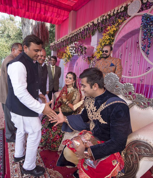 Chief Minister Akhilesh Yadav attend the wedding in Kannauj