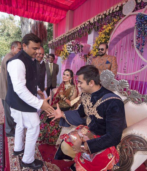 Chief Minister Akhilesh Yadav attend the wedding in Kannauj