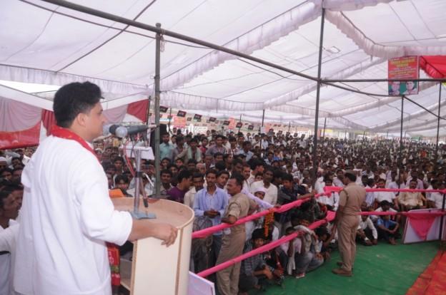 Haji Ajaml Khan during party worker celebration