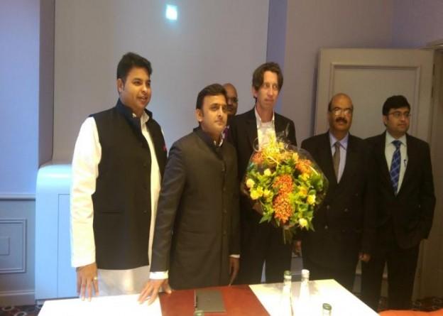 Chief Minister Akhilesh Yadav on visit to Netherlands