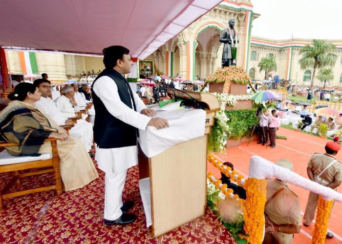 70वें स्वतंत्रता दिवस पर ध्वजारोहण के बाद मुख्यमंत्री श्री अखिलेश यादव का सम्बोधन