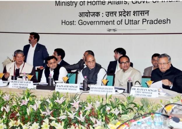 लखनऊ में 19 जनवरी, 2015 को मध्य क्षेत्रीय परिषद की 20वीं बैठक के दौरान उत्तर प्रदेश के मुख्यमंत्री श्री अखिलेश यादव।