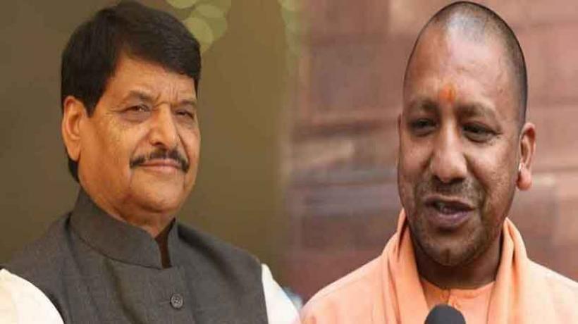 एसपी नेता शिवपाल यादव ने बेटे आदित्य संग की सीएम योगी से मुलाकात