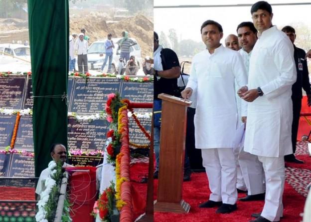 मुख्यमंत्री श्री अखिलेश यादव ने इलाहाबाद जनपद में करोड़ों की योजनाओ का शिलान्यास व लोकार्पण किया