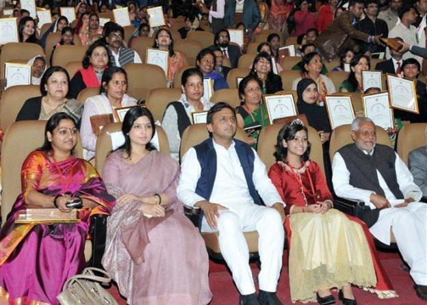 मुख्यमंत्री श्री अखिलेश यादव रानी लक्ष्मीबाई वीरता पुरस्कार तथा यश भारती सम्मान समारोह सम्पन्न