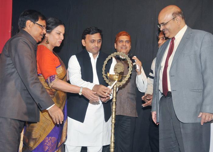 मुख्यमंत्री मुख्यमंत्री श्री अखिलेश यादव ने 'जश्न-ए-क़ैफ़ी आज़मी' समारोह को सम्बोधित किया