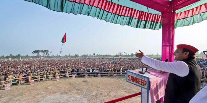 Chief Minister Akhilesh Yadav's election rallies today at Sitapur and Lakhimpur Kheri