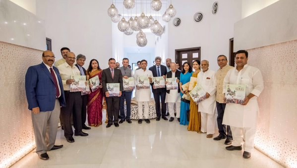 Chief Minister Akhilesh Yadav launched a book based on the NRI day