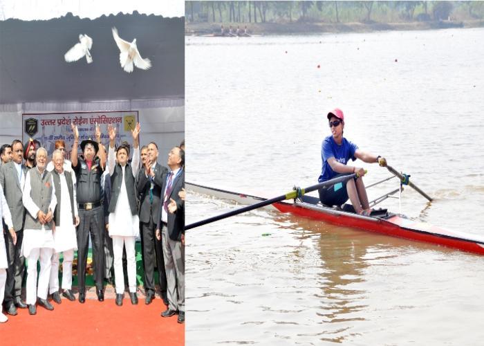 12 नवम्बर, 2014 को उत्तर प्रदेश के मुख्यमंत्री श्री अखिलेश यादव लखनऊ में गोमती तट पर 35वीं राष्ट्रीय जूनियर नौकायन चैम्पियनशिप के शुभारम्भ अवसर पर।